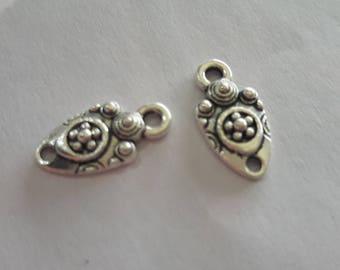 5 tribal pendants, silver