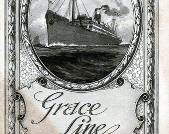 1927 Cruise Line Brochures - Grace Line