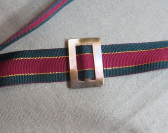 Mother of Pearl or Nacre belt buckle; sash or scarf small clasp; 1930's reversible