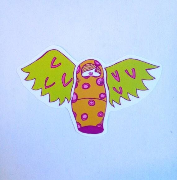 Flying Nesting Doll From Alberolingarndesigns On Etsy Studio