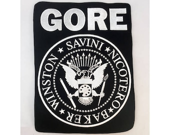 GORE embroidered full back patch punk rock special effects