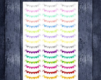 Weekend Sale Heart Banners for EC Life Planner, Happy Planner, or Scrapbooking