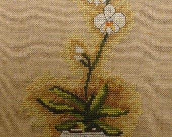 Orchid panel - ochidée paneau dmc bk102