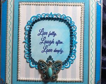 Blue butterfly journal