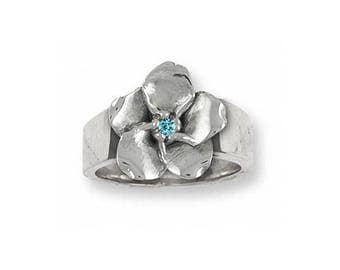 Forget Me Not Ring Jewelry Sterling Silver Handmade Flower Ring FMN2-SR