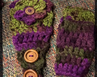 Headwarmer and Fingerless Gloves Set