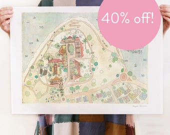 40% OFF! Point Heathcote Reserve - Reproduction of an Original Artwork - A2