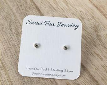 Petite Flower Post Earrings