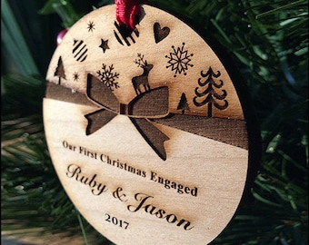 Christmas Ornament, couple ornament, custom personalized ornament, our fist christmas ornament // SKU#8F