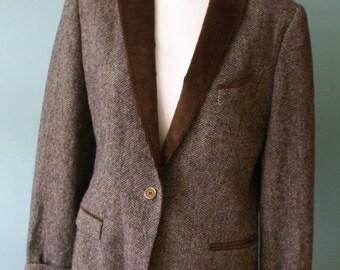 Dolce & Gabbana Orginal Vintage Jacket, Coat Blazer Suit Wool, Silk  1980's 1990's made in Italy, Brown Jacket