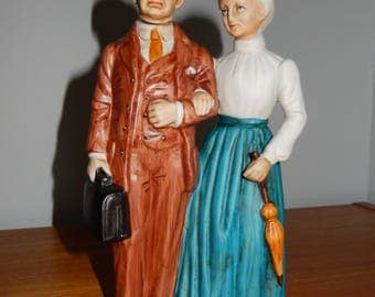 Vintage Avon Bottle of Founders - Mr. and Mrs. McConnell from 1973