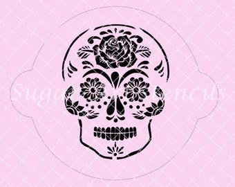 Sugar skull stencil Day Of The Dead SL20218