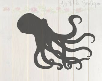 Octopus, sea, ocean SVG, PNG, DXF files, instant download