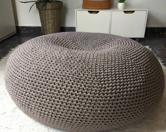giant floor pillow pouf extra large round crochet bean bag chair