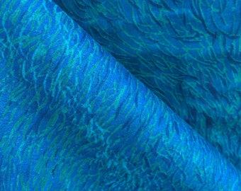 Nani Iro Wild Elegant Wind by Naomi Ito - Ocean Blue - Japanese Cotton Double Gauze Fabric - HALF YD