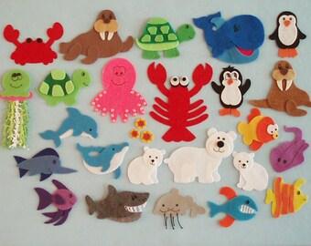 Commotion in the Ocean Felt Board Story/Felt Board Stories/Flannelboard Stories/Felt Ocean Animals/Ocean Theme/Teaching Resource/Literacy