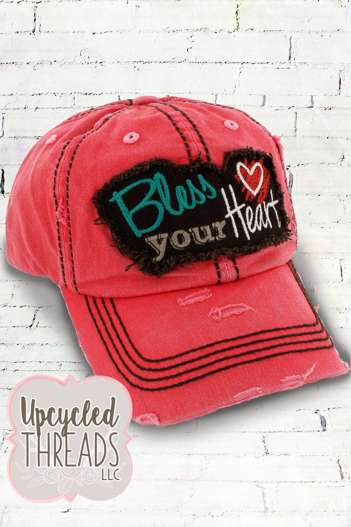 Bless Your Heart Hat Vintage Hat Women S Baseball Hat Distressed