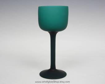 Carlo Moretti Murano satinato teal glass