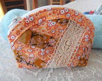Orange door coins patchwork and lace