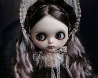 Custom Blythe Dolls For Sale by Custom Ooak Blythe Art Doll Claudia Victorian Girl with teeth