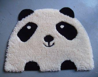 Shaggy Rug For Kids ~ PANDA  Hand Tufted Multilevel 100 % Wool