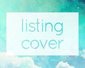 Extra Listing Covers ADD-ON - Personalized / Custom Text Placeholder Image to Match Your Etsy Shop Design