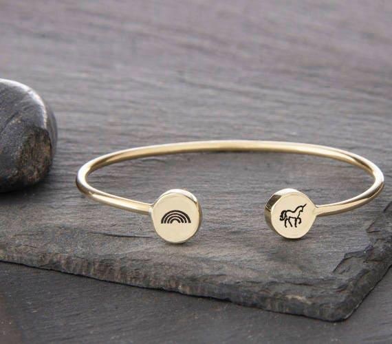 Unicorn Bracelet, Unicorn Jewelry, Unicorn Charm, Unicorn, Rainbow Bracelet, Rainbow Jewelry, Rainbow Charm, Rainbow,  b249sB