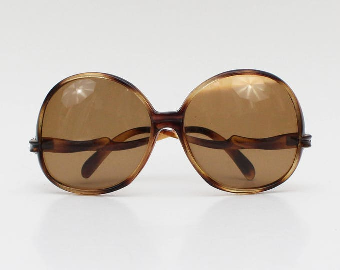 Vintage 1970s Tortoise Shell Large Frame Sunglasses