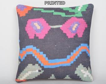 botanic kilim pillow case black handmade cushion cover chair pillow cover designer throw pillow pink pillow decorative throw pillow 271-40