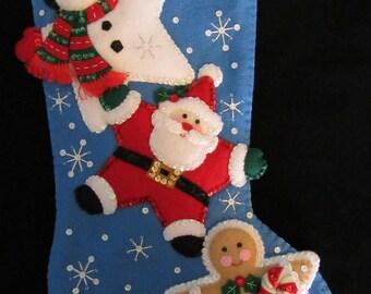 "Bucilla Christmas Stars 18""- Completed"