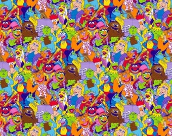 Disney's The Muppets Cotton Fabric by Springs Creative! Kermit the Frog, Miss Piggy & More! 5 Options! [Choose Your Cut Size]