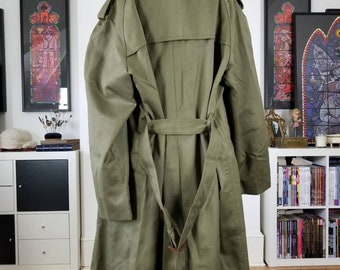 Vintage Spanish Army Trench Coat Ejercito De Tierra Large