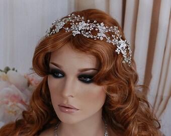 Bride Bridal Wreath Headpiece Headband Floral Wedding Vine Hairband Weddings Hair Accessory Jewelry Accessories Head Hair Piece Hairpiece