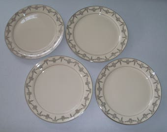 Taylor Smith & Taylor 1825 Set Of 4 Dinner/Lunch Plates