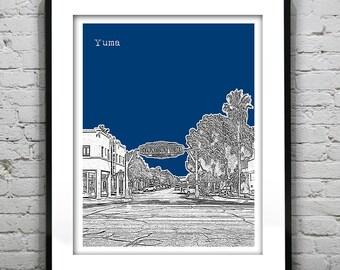 Yuma Arizona Poster Print Art Skyline Version 1