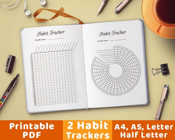 Stupendous image for bullet journal habit tracker printable