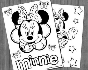 ON SALE Minnie Coloring Pages