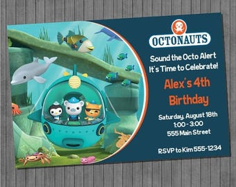 FLASH SALE Octonauts Party Invitation
