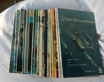 Naval War College Review Collection of Issues from 1967-1971 - Vintage United States Navy Periodicals 18 Issues 1967 1968 1969 1970 1971