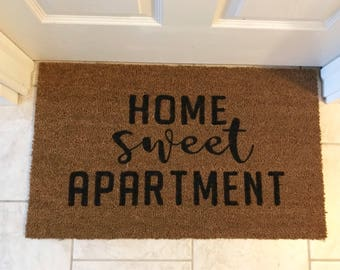 Home sweet apartment, frontdoor mat, apartment decor