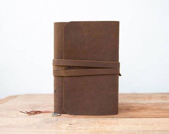 Leather Journal Refillable.Leather Journal Cover, A5 refillable journal, Moleskine cover