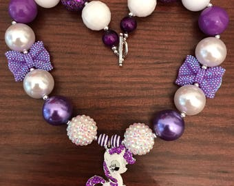 Rarity from My Little Pony inspired Bubble Gum Necklace (Child/Toddler).