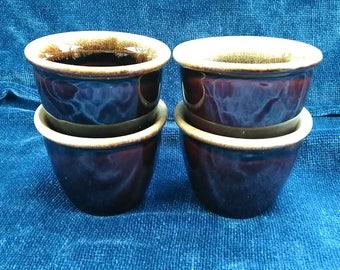 Brown Drip Custard Cups USA Ramekins