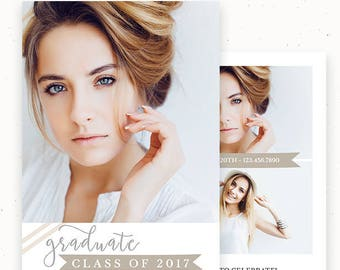 High School Graduation, Senior Announcement, Marketing Template, Printable Announcement, Graduation Template, Graduation Invitation c164