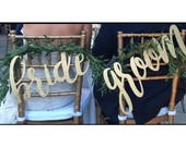 Bride and Groom chair signs (diy)
