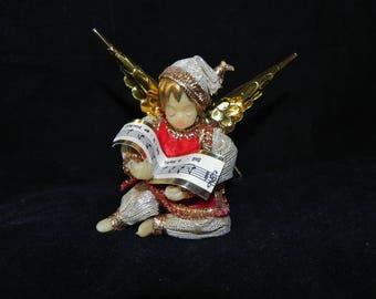 "Koestel Wax 4"" Minstrel Musician Christmas Ornament West Germany"