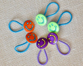 Smiley Ponytail Holders,  Toddler / Girl Smiley Ponytail Holders