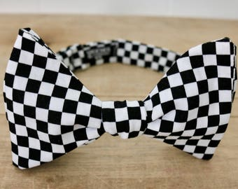 Racing Checkered Flag Bow Tie by Adam Speicher