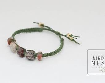 Macrame Bracelet with Laguna Agate