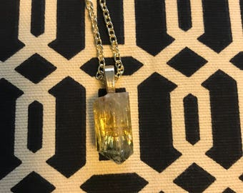 Golden Apatite Crystal Necklace